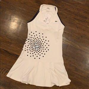 NWT Lacoste Sport Dress Black White Size 6 $145